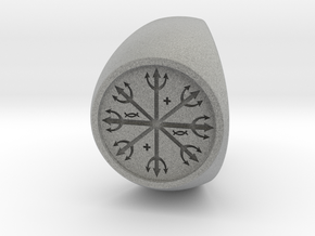 Custom Signet Ring 54 v2 in Metallic Plastic