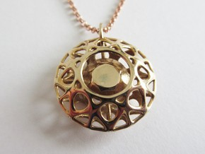 Brilliant diamond pendant in Polished Bronze