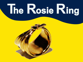 The Rosie Ring in Polished Brass: 6.5 / 52.75