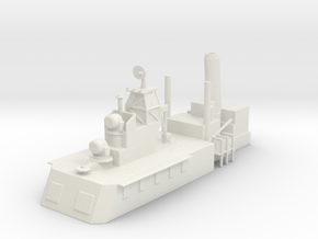 1/500 Scale CLG Aft Structure No Mast in White Natural Versatile Plastic