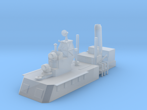 1/500 Scale CLG Aft Structure No Mast in Smooth Fine Detail Plastic