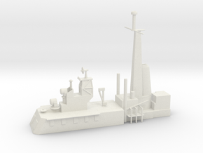 1/500 Scale CLG Aft Structure in White Natural Versatile Plastic