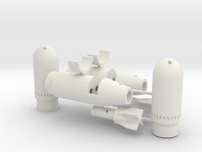Torpedoantrieb in White Natural Versatile Plastic