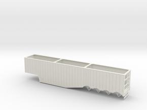 1/64th 53' Quad Axle Outside Rib Chip Trailer in White Natural Versatile Plastic