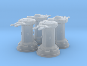 1/270 Rebel DF10 Heavy Turrets (4) in Smooth Fine Detail Plastic