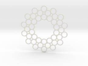 Circle Around Pendant in White Natural Versatile Plastic