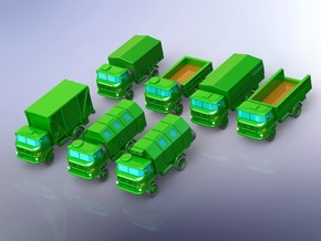 GDR IFA W-50 3to Truck Variants  in Smooth Fine Detail Plastic