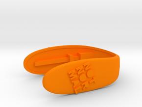 NOTNORMAL TILTED KEY FOB FOR MINI COOPER F MODELS in Orange Strong & Flexible Polished