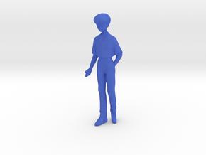 1/43 School Boy in Uniform in Blue Processed Versatile Plastic
