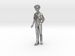 1/43 School Boy in Uniform in Natural Silver