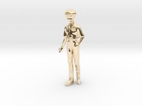 1/43 School Boy in Uniform in 14k Gold Plated Brass