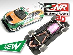 3D Chassis - SCX Seat Leon CUP Racer (Combo) in Black Strong & Flexible