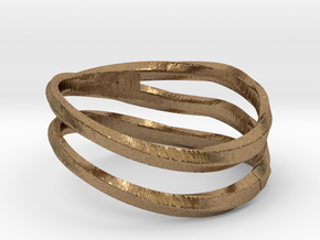 pentatwist waves ring in Natural Brass: 5.5 / 50.25