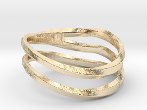 pentatwist waves ring in 14K Yellow Gold: 5.5 / 50.25