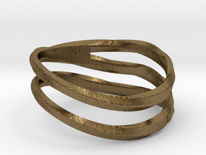 pentatwist waves ring in Natural Bronze: 9 / 59