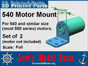 Hobby Electric Motor Mounts (2) 500 size in White Processed Versatile Plastic: Medium