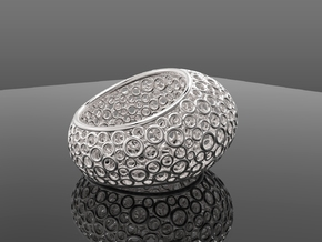 Bubbly in Fine Detail Polished Silver: 11 / 64