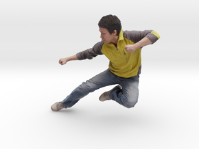 Scanned Fly Kick Man in Full Color Sandstone