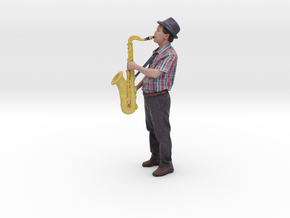 Scanned Saxophone player-818 in Full Color Sandstone