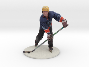 Scanned Hockey Player -15CM High in Full Color Sandstone