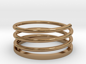 Spiral Ring in Polished Brass: 9 / 59