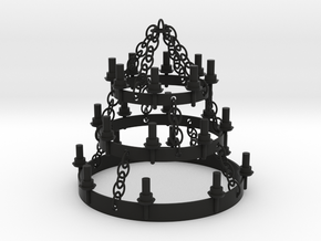 PLAYMO MEDIEVAL ROOF CHANDELIER 1/24 in Black Natural Versatile Plastic