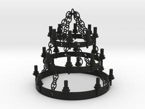 PLAYMO MEDIEVAL ROOF CHANDELIER 1/24 in Black Natural Versatile Plastic