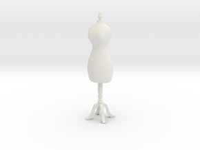 Female mannequin 01. 1:24 Scale in White Natural Versatile Plastic