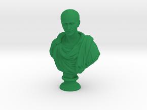 Desk Art Julius Caesar Sculpture in Green Processed Versatile Plastic