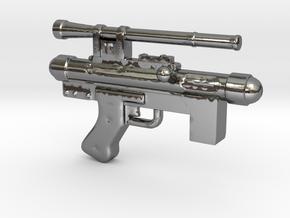 Star Wars Blaster Pistol SE-14C 1:12 scale in Polished Silver