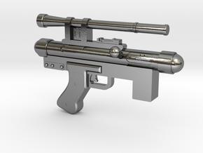 Star Wars Blaster Pistol SE-14C 1:6 Scale  in Polished Silver