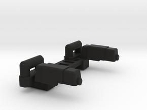 Lambo's Shoulder Pads with c-bars in Black Natural Versatile Plastic
