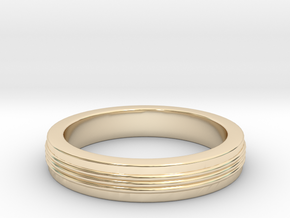 Three Strand Ring in 14K Yellow Gold: 3 / 44