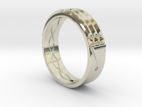 Atlantis Ring in 14k White Gold: 8 / 56.75