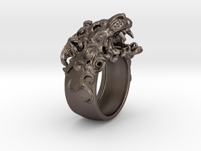 Roaring Lion King of Jungle Ring  in Stainless Steel: 9 / 59