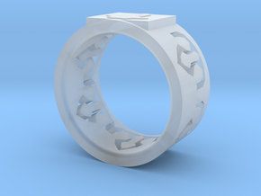 Crystal ring in Smooth Fine Detail Plastic