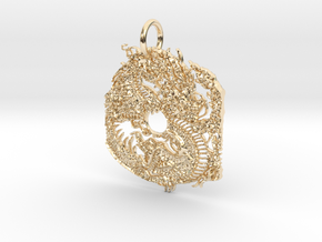 dragon Pendant in 14K Yellow Gold