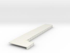 Wheeler Loading Platform in White Natural Versatile Plastic