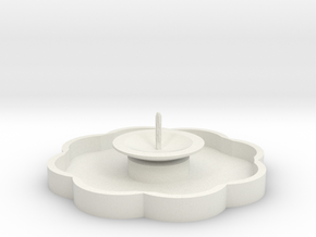 Zierbrunnen mit 1 Fontaine - 1:120 in White Natural Versatile Plastic