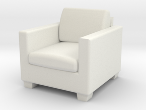 1:48 Davis Apartment Chair in White Natural Versatile Plastic