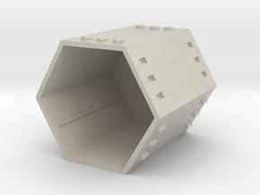 Hex Modular Shelving: Frame in Natural Sandstone