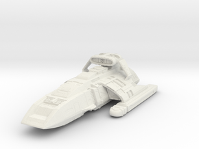 """Danube Class Runabout with weapon pod - 2.6"""" in White Natural Versatile Plastic"""