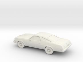 1/87 1975 Chevrolet Chevelle Coupe in White Natural Versatile Plastic