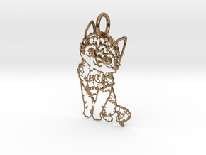 creative pendant cat in Natural Brass