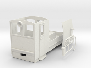 Boxholm, overhang electric loco in White Natural Versatile Plastic: 1:24