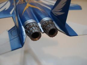 004A 1/144 F-15 Nozzle - Closed in White Natural Versatile Plastic