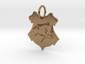 Hufflepuff Badger Crest in Natural Brass