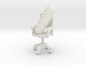 Gros Pain Seated on Office Chair  in White Natural Versatile Plastic