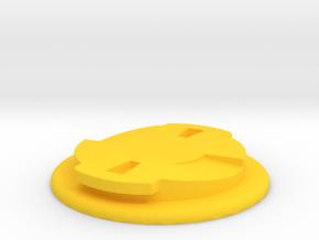 Wahoo Elemnt Quarter Turn Plate in Yellow Processed Versatile Plastic