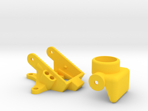 BQE Mega Pixel Runcam Micro / VTX03 Mount in Yellow Processed Versatile Plastic